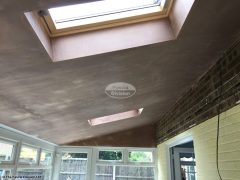 Internal view of a newly plastered Equinox Roof System