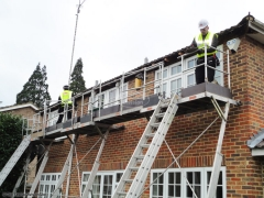 The Fascia Division replacing new fascias soffits guttering using Easi-Dec Access System