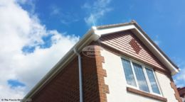 UPVC ogee guttering white fascia and soffit