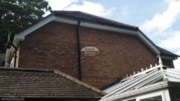 Replacement soffits fascias and guttering to half—hip roofline