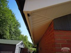 White ash UPVC soffit with white ash fascia