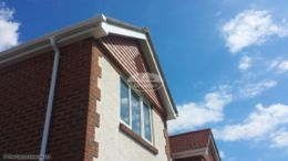white fascia soffit white ogee guttering