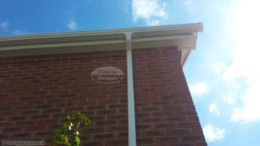 white fascia white soffit ogee guttering installation
