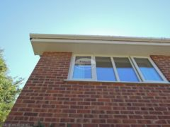 White tongue and groove soffit white square guttering
