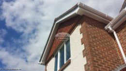 white UPVC bargeboards with white UPVC soffit