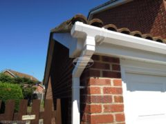 White UPVC square guttering white fascia and soffit