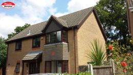 Replace old wooden fascias with new UPVC in woodgrain