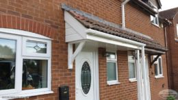 New UPVC fascias and soffits on a porch