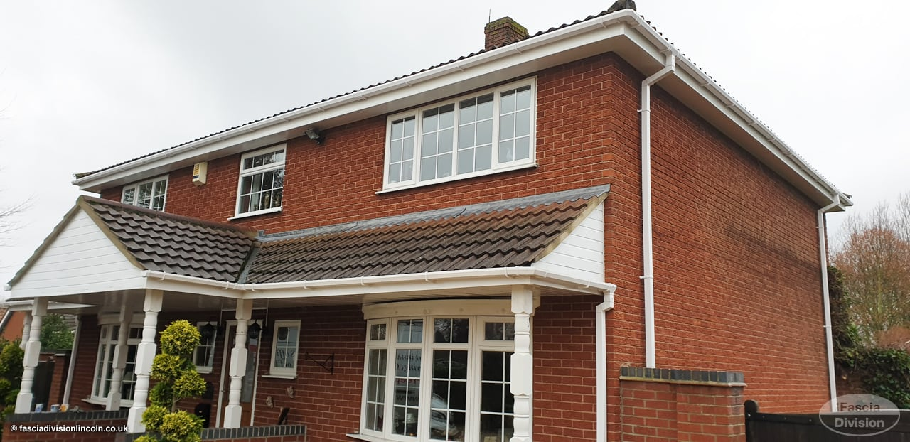 new fascias soffits guttering white upvc