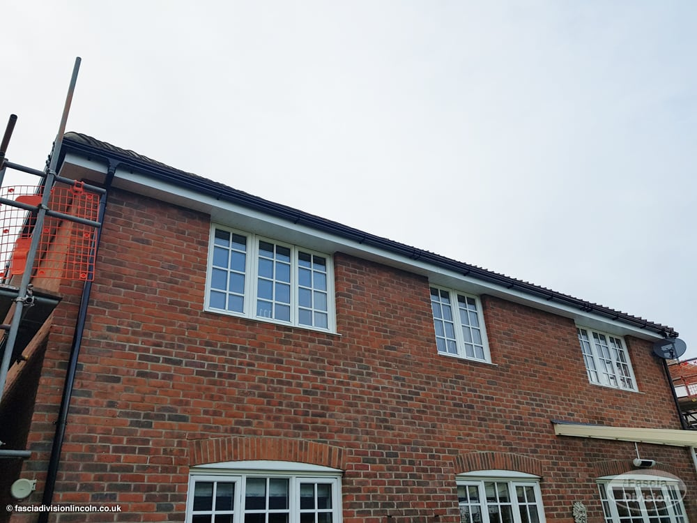 new installation fascias, soffits and guttering