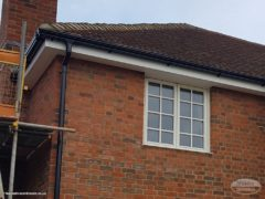 UPVC fascias, soffits and guttering installation on new build